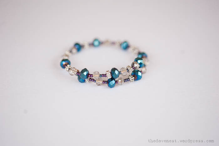 beaded crystal bracelet