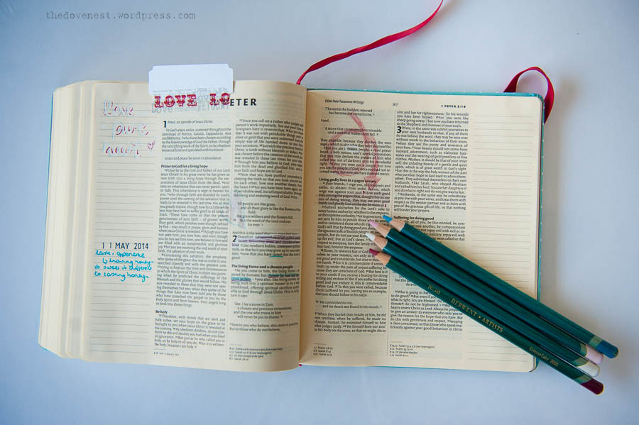 bible journalling layout
