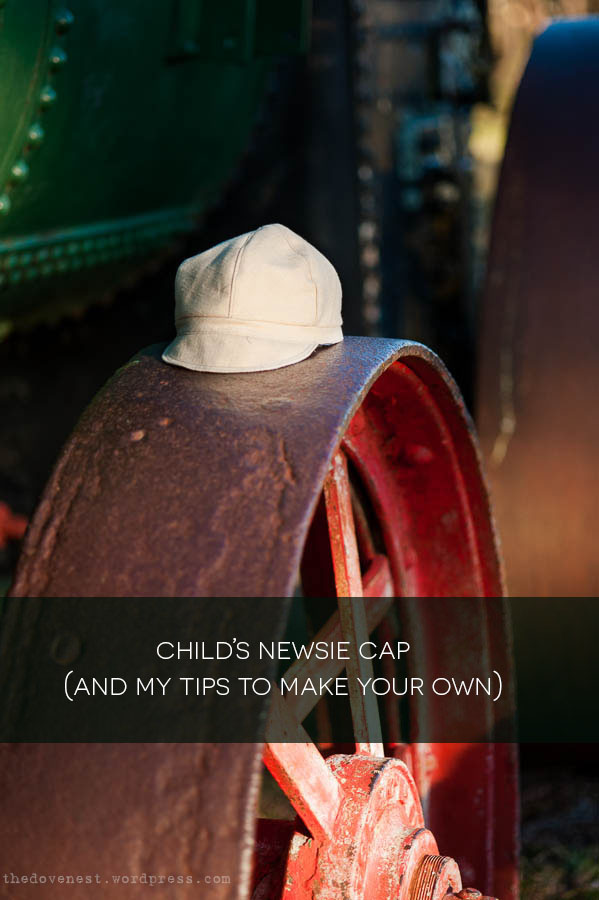 tips for making a child's newsie cap